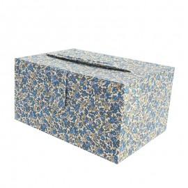 Boîte à couture Frou Frou Fleurs - Bleu intense
