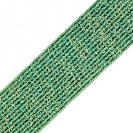 Ruban élastique lurex Brillantine (20mm) - prairie x 1m