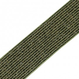 Ruban élastique lurex Brillantine (20mm) - forêt x 1m