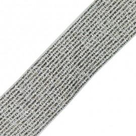 Ruban élastique lurex Brillantine (20mm) - gris x 1m