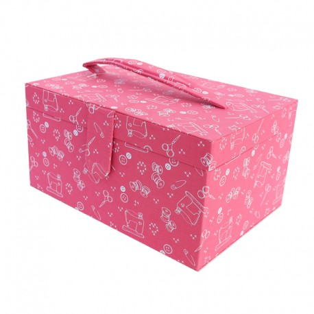 Sewing box Frou Frou I Love Couture - Fuschia
