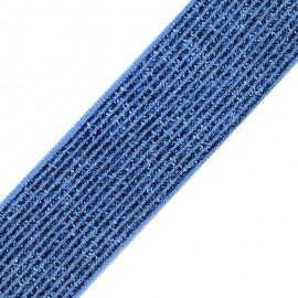 Ruban élastique lurex Brillantine (20mm) - bleu x 1m