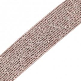 Ruban élastique lurex Brillantine (20mm) - rose x 1m