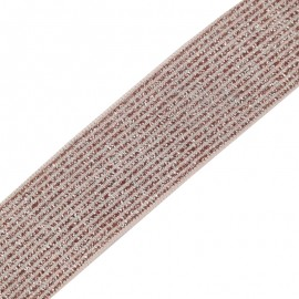 Ruban élastique lurex Brillantine (22mm) - rose x 1m
