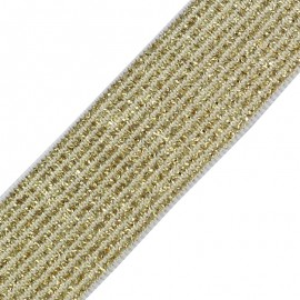 Ruban élastique lurex Brillantine - or argent x 1m