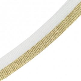 Brillantine lurex elastic ribbon - pink x 1m