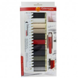 Set of 11 Gütermann sewing threads + accessories