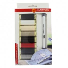 Set of 8 Gütermann sewing threads + 1 PRYM Trickmaker