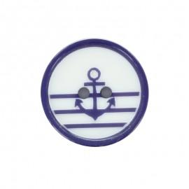 Bouton polyester Mignon marin - bleu
