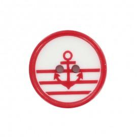 Mignon marin polyester button - red