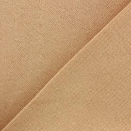 Tissu Jersey peau poupée fin - pêche x 10cm