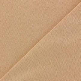 Tissu Jersey peau poupée épais - pêche x 10cm