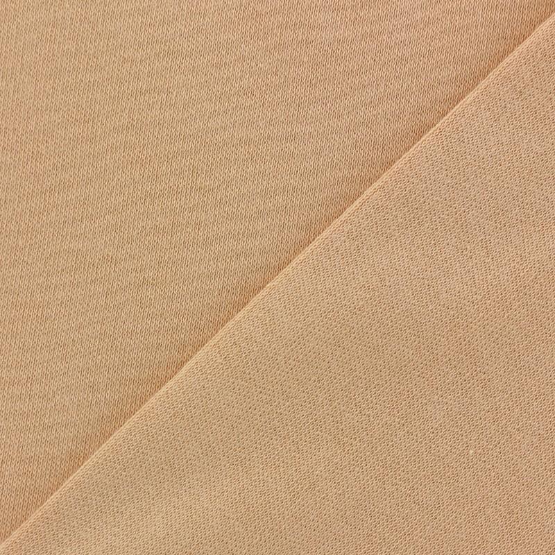 Tissu jersey peau poup e pais p che x 10cm - Tissu peau de peche ...