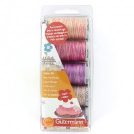 Set of 5 Gütermann cotton sewing threads 300 m