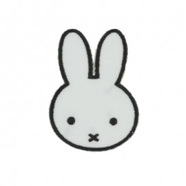 Thermocollant et sticker la lapine Miffy Face - blanc
