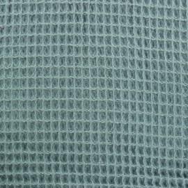 Tissu Oeko-Tex piqué de coton nid d'abeille - sarcelle celadon x 10cm