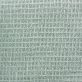 Tissu Oeko-Tex piqué de coton nid d'abeille - eau sauvage x 10cm