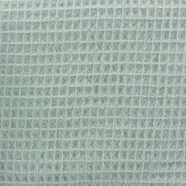 Waffle stitch Oeko-Tex cotton fabric - light celadon x 10cm