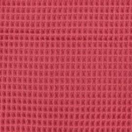 Tissu Oeko-Tex piqué de coton nid d'abeille - fraise x 10cm