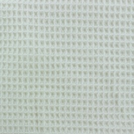 Waffle stitch Oeko-Tex cotton fabric - cream x 10cm