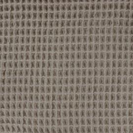 Tissu Oeko-Tex piqué de coton nid d'abeille - noisette x 10cm