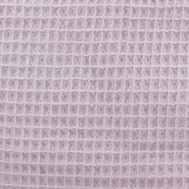 Tissu Oeko-Tex piqué de coton nid d'abeille - eau de rose x 10cm