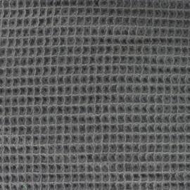 Tissu Oeko-Tex piqué de coton nid d'abeille - ardoise x 10cm