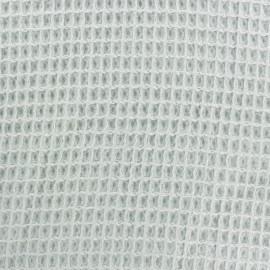 Tissu Oeko-Tex piqué de coton nid d'abeille - opaline x 10cm