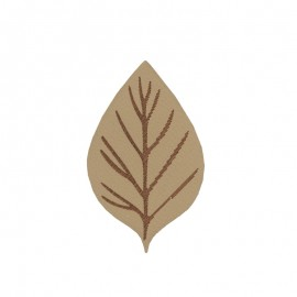 Thermocollant Feuille d'automne - beige