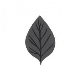 Thermocollant Feuille d'automne - gris