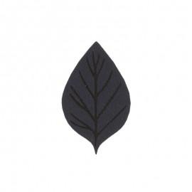 Thermocollant Feuille d'automne - bleu marine