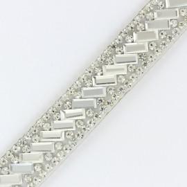 Ruban Bijoux - argent x 50cm