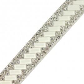 Ruban à thermocoller Bijoux - blanc x 50cm