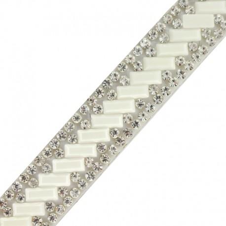 Bijoux iron on braid trimming  x 50cm - silver