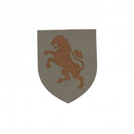 Blason Thermocollant Lion simili cuir - gris/marron
