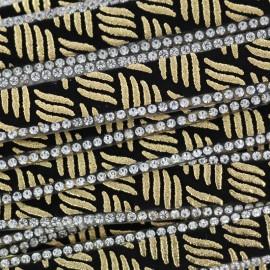 Ruban à thermocoller Bijoux zèbre - or x 50cm