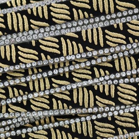 Zebra Bijoux iron on braid trimming  x 50cm - gold