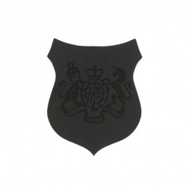 Blason Thermocollant Royals simili cuir - noir