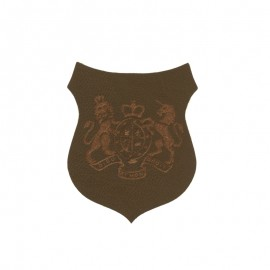 Blason Thermocollant Royals simili cuir - marron