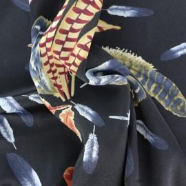 Tissu polyester effet mat Plume - noir x 10cm