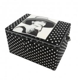 "Sewing box ""Audrey Hepburn"" - black"