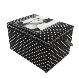 "Sewing box ""Audrey Hepburn""B - black"