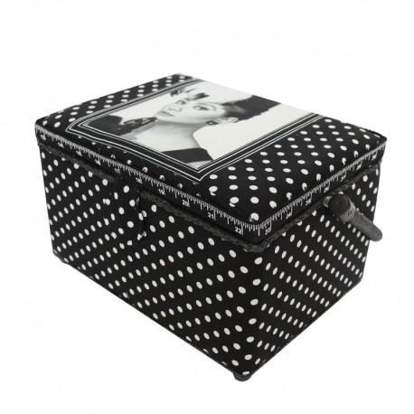 "Sewing box ""Audrey Hepburn""B - black"