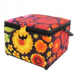 Boîte à couture Bouquet - noir