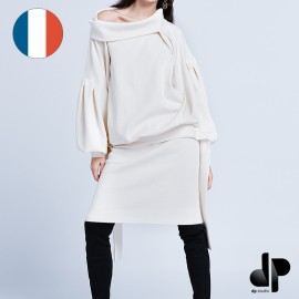 Patron Femme DP Studio Robe longue blousante avec col retourné - Le 000