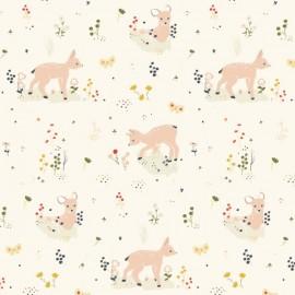 Tissu Bio Coton Little - little deer x 10cm
