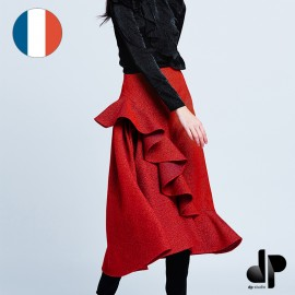 Patron Femme DP Studio Jupe longue asymétrique à volant avec plis - Le 406