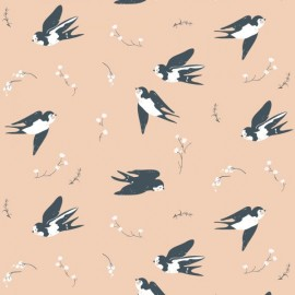 Tissu Bio Coton Little - little swallow x 10cm