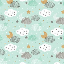 Tissu Blend Coton Sweet Dreams - bleu x 10cm