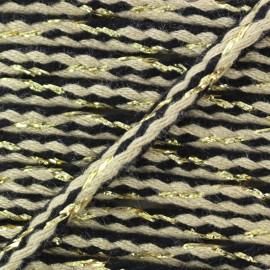 ♥ Coupon 400 cm ♥ Festif braided lurex cord - taupe